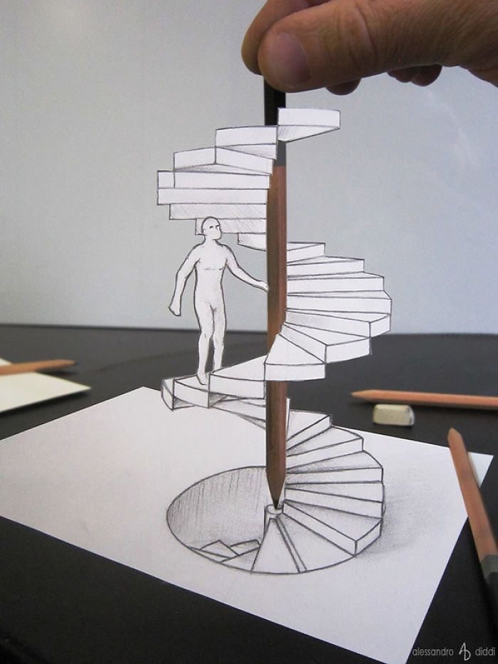 15 Amazing 3d Drawings That Will Make You Appreciate Every Detail 3d Drawings Illusion Drawings Drawings