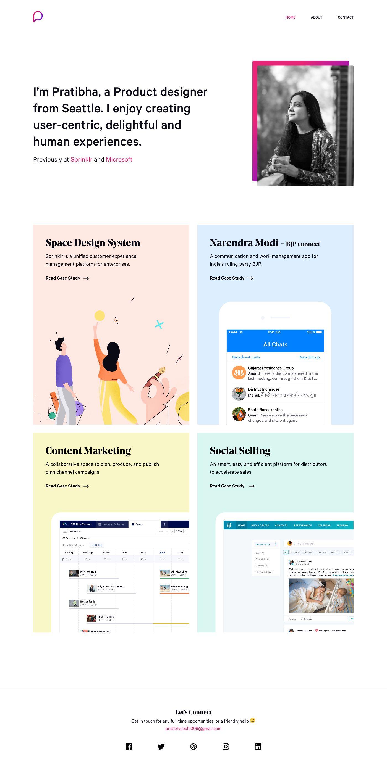 Pratibha Joshi Landing Page Design Inspiration Lapa Ninja Landing Page Design Page Design Design