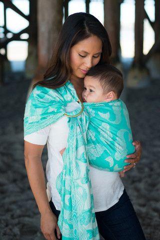 TULA Baby Carriers | Naida Lagoon | Tula Woven Wrap Conversion Ring Sling