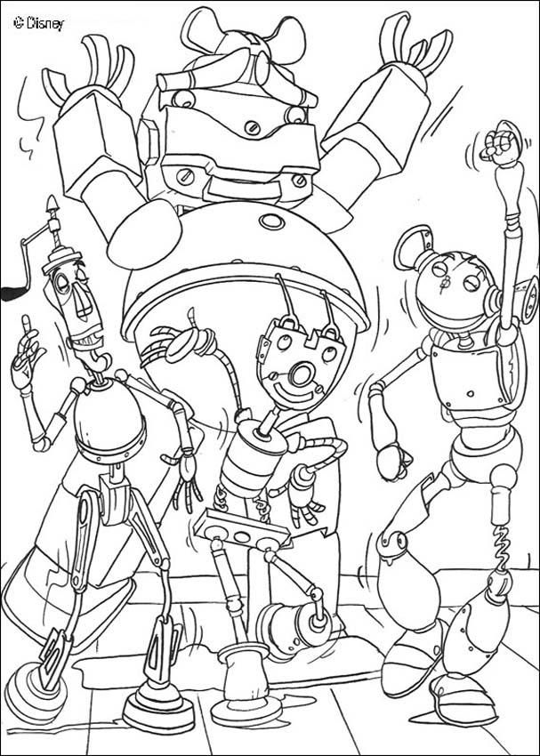 Robots Movie Coloring Pages