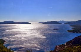 The Adriatic Sea, photo taken from the highway in Croatia