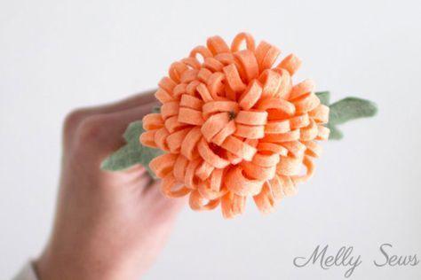 How to Make a Felt Chrysanthemum - Melly Sews