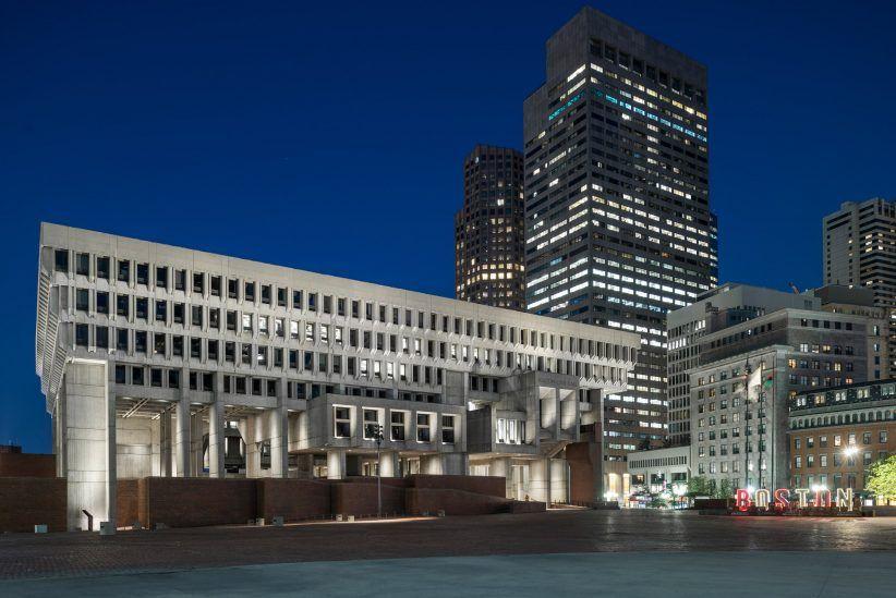 Boston City Hall Renovation Preserves Honesty Of Brutalist Building Brutalist Buildings Boston City Hall Boston Architecture