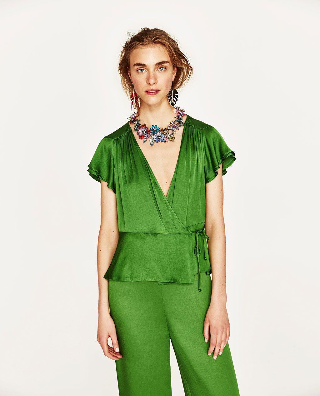 Billede 6 af SLÅ-OM-BLUSE fra Zara