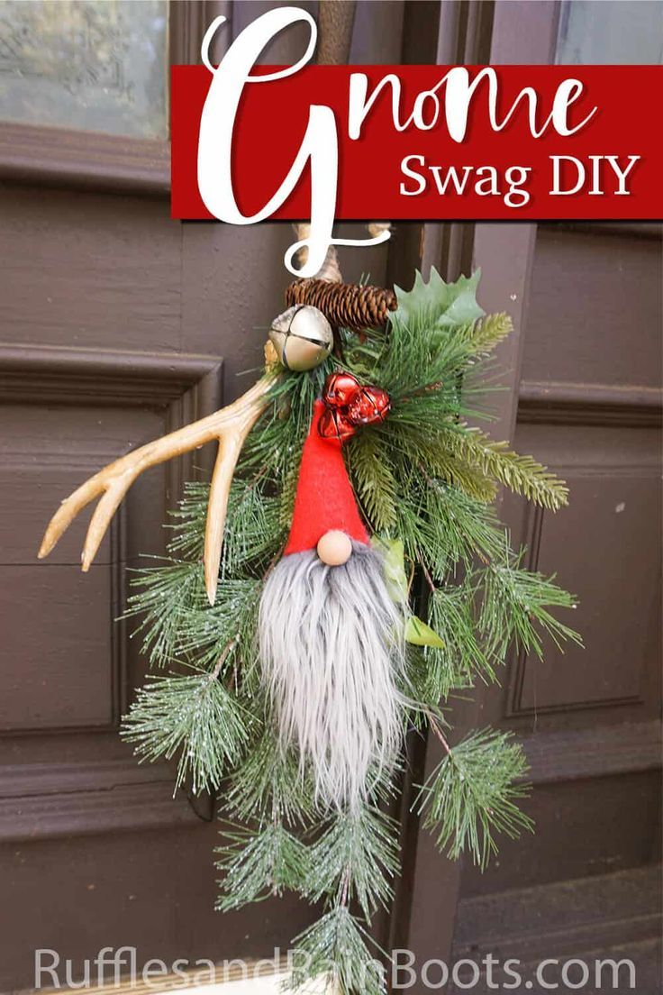 Make an Easy Gnome Ornament Swag in Minutes!