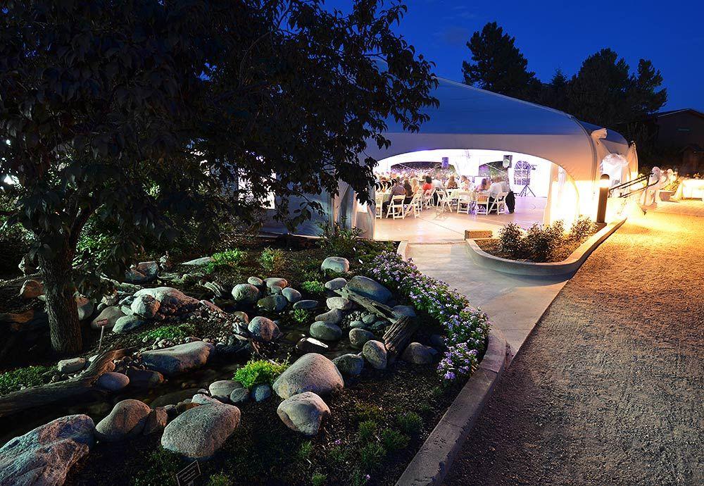 Hudson Gardens wedding reception tent at night | Denver Boulder wedding photographer | Jesse La Plante Photography