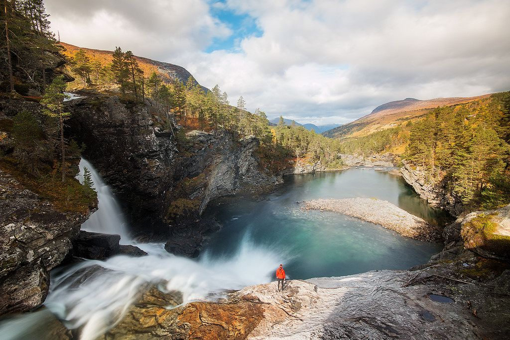 Rauma river in Romsdal, Norway