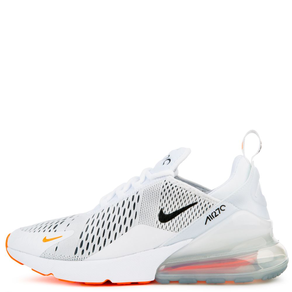 Nike Men S Nike Air Max 270 White Black Total Orange Zapatos