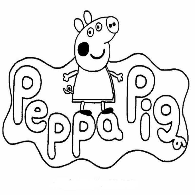 Idea di un disegno da colorare di Peppa Pig 9d3b67178fb6