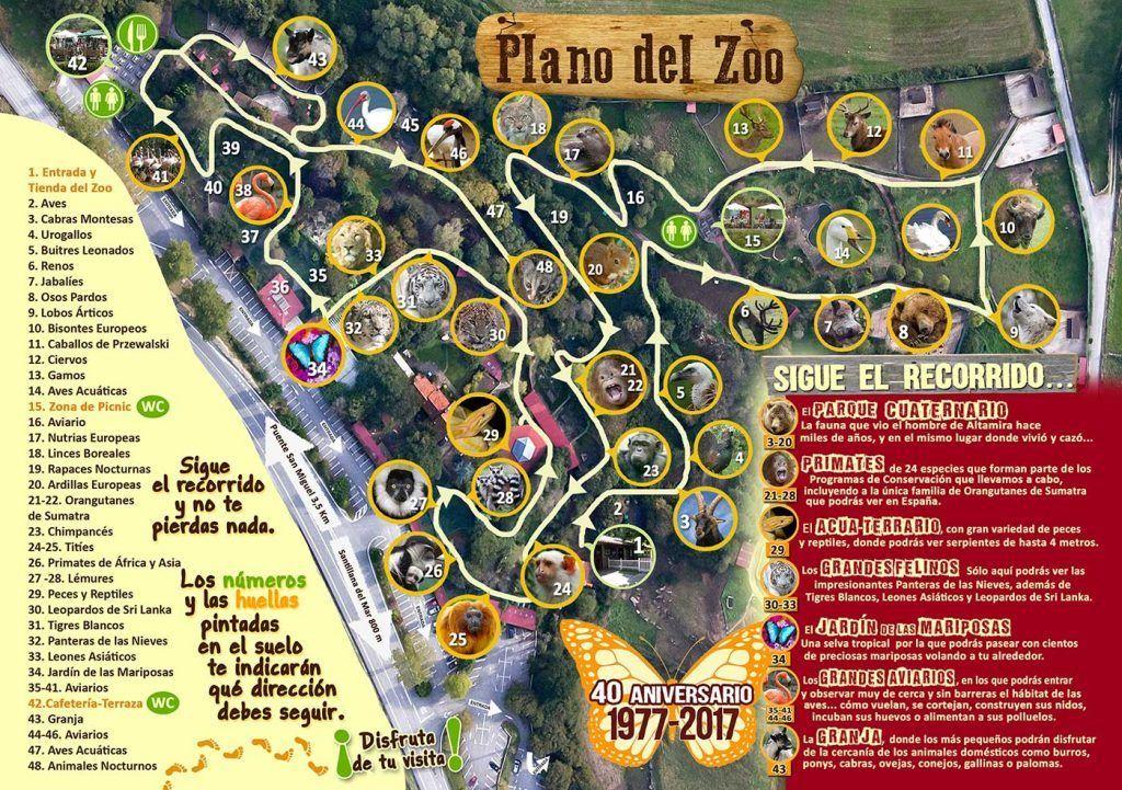 Santillana Del Mar Mapa.Zoo De Santillana Del Mar Mapa Que Hacer En Cantabria Con