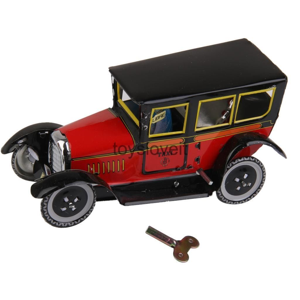 Toys car keys   GBP  Vintage Wind Up Taxi W Key Mechanical Clockwork Model