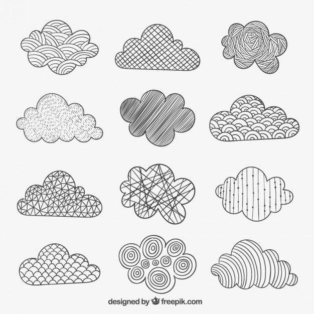 Photo of Download Sketchy Clouds In Abstract Style For Free