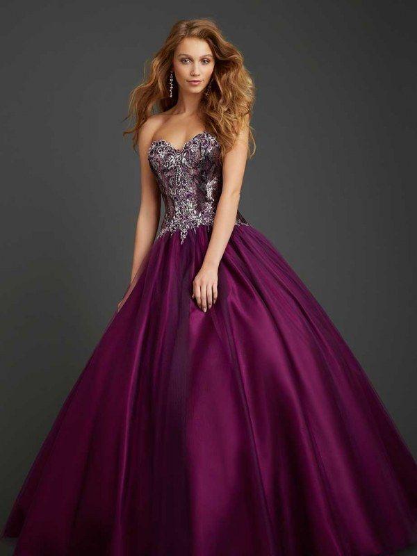Vestido color berenjena y plateado | VESTIDO BERENJENA | Pinterest ...