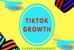 Tomexpertppc I Will Grow Your Tik Tok Account Organically And Manually For 15 On Fiverr Com Social Media Marketing Services How To Get Followers Digital Marketing Social Media