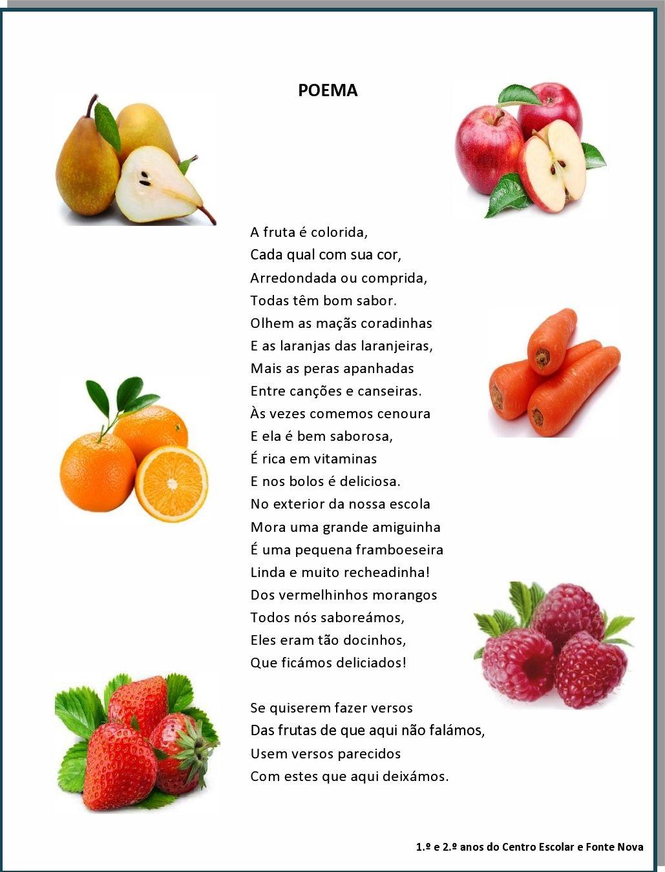 Super Poema - Frutas   Poemas, canções, lengalengas, adivinhas  VA29