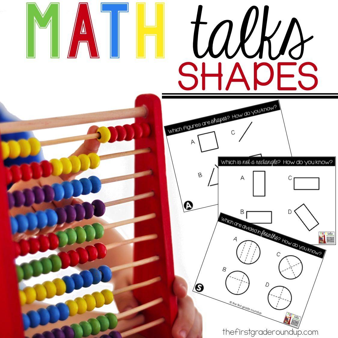 Digital Math Talks On Shapes Math Talk Math Math Skills Practice [ 1125 x 1125 Pixel ]