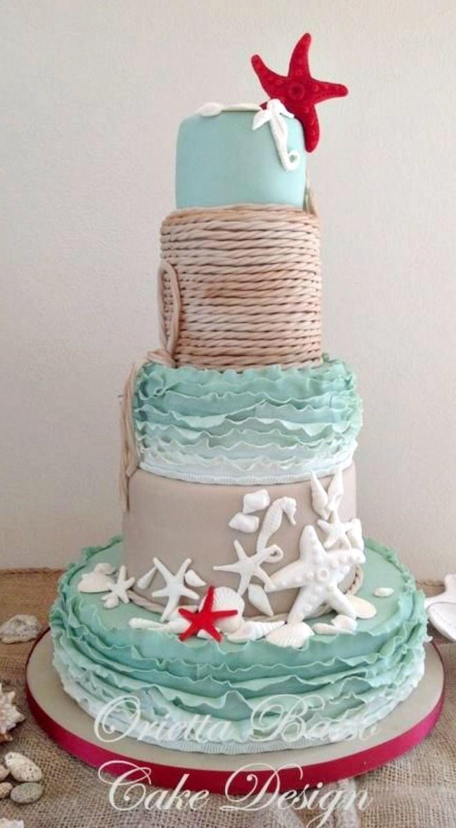 Wedding at the Beach Cake