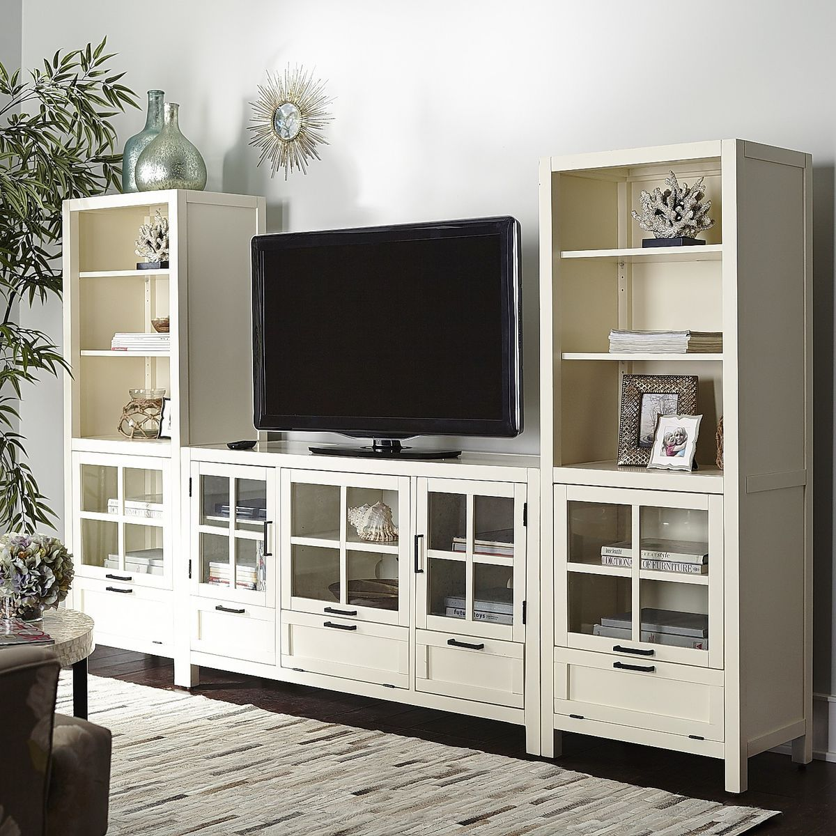 Pier One Living Room Sausalito Bookcase Media Tower Antique White Pier 1 Imports