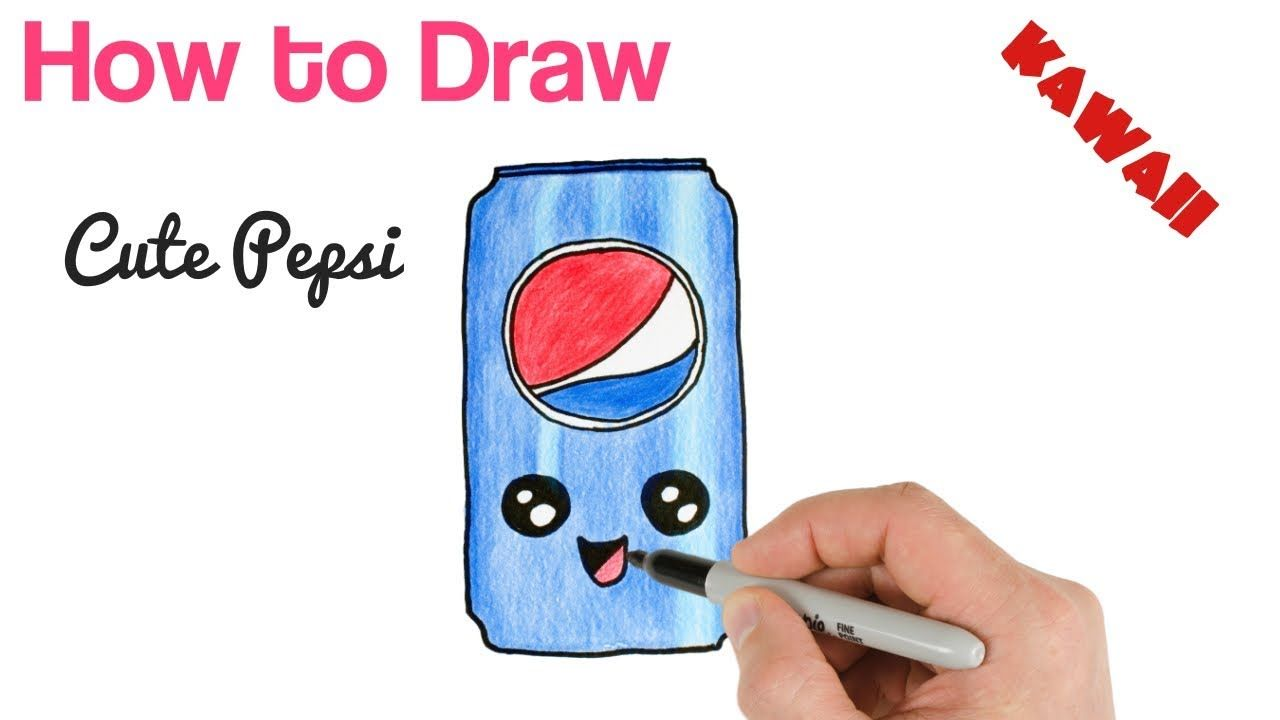How To Draw Pepsi Cute And Easy Kawaii Drawing Kawaii Drawings