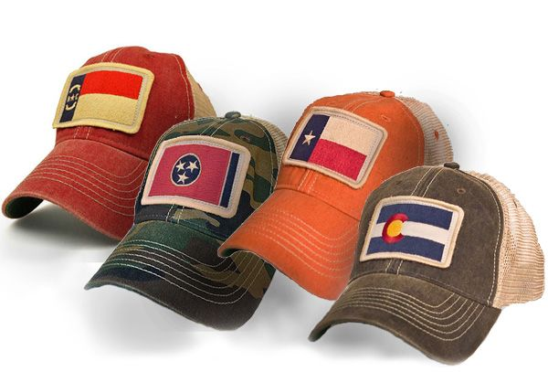6ae52f990 Vintage state flag hats by State Legacy Revival. | State Legacy ...