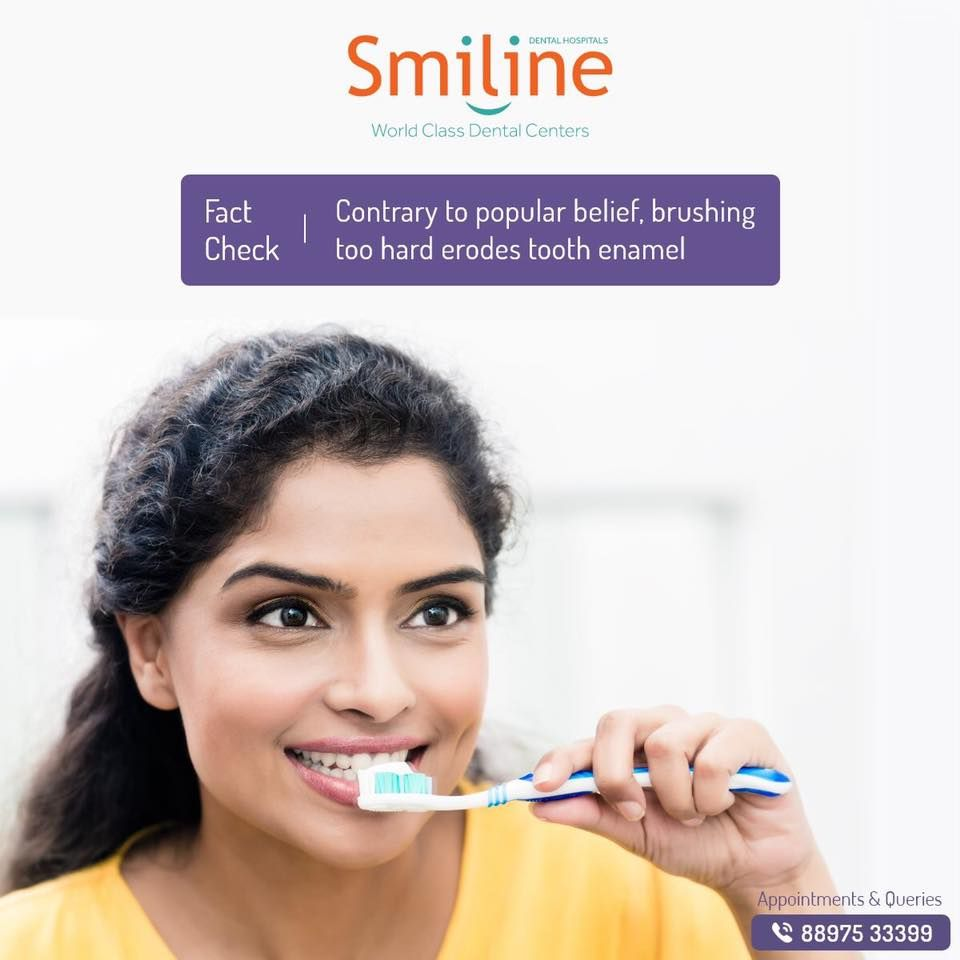 Brushing too hard can damage your teeth and gums, leading