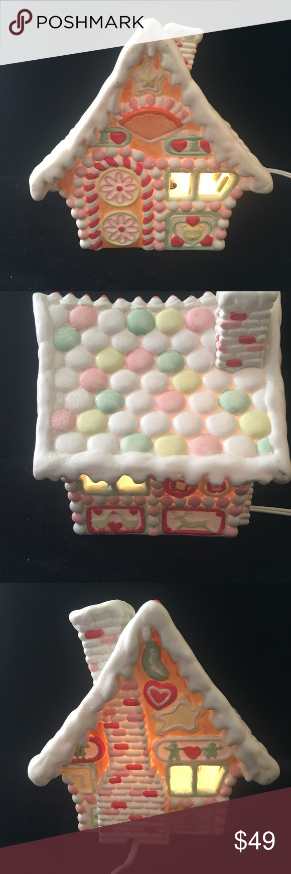 "Department 56 Lighted Candy House Christmas 1986. Department 56 Lighted Candy House Christmas Ceramics Vintage 1986.  Condition is Preowned. Please see photos for condition; no chips or cracks! Good vintage condition! Approximately 5"" W x 7"" H Department 56 Holiday Holiday Decor #department56"