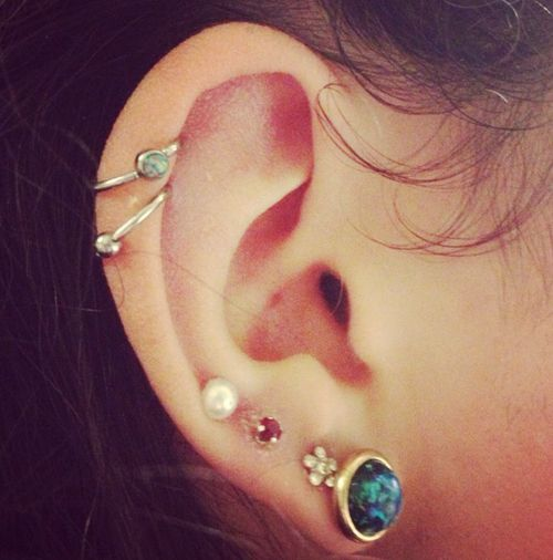 Cute piercings and earrings