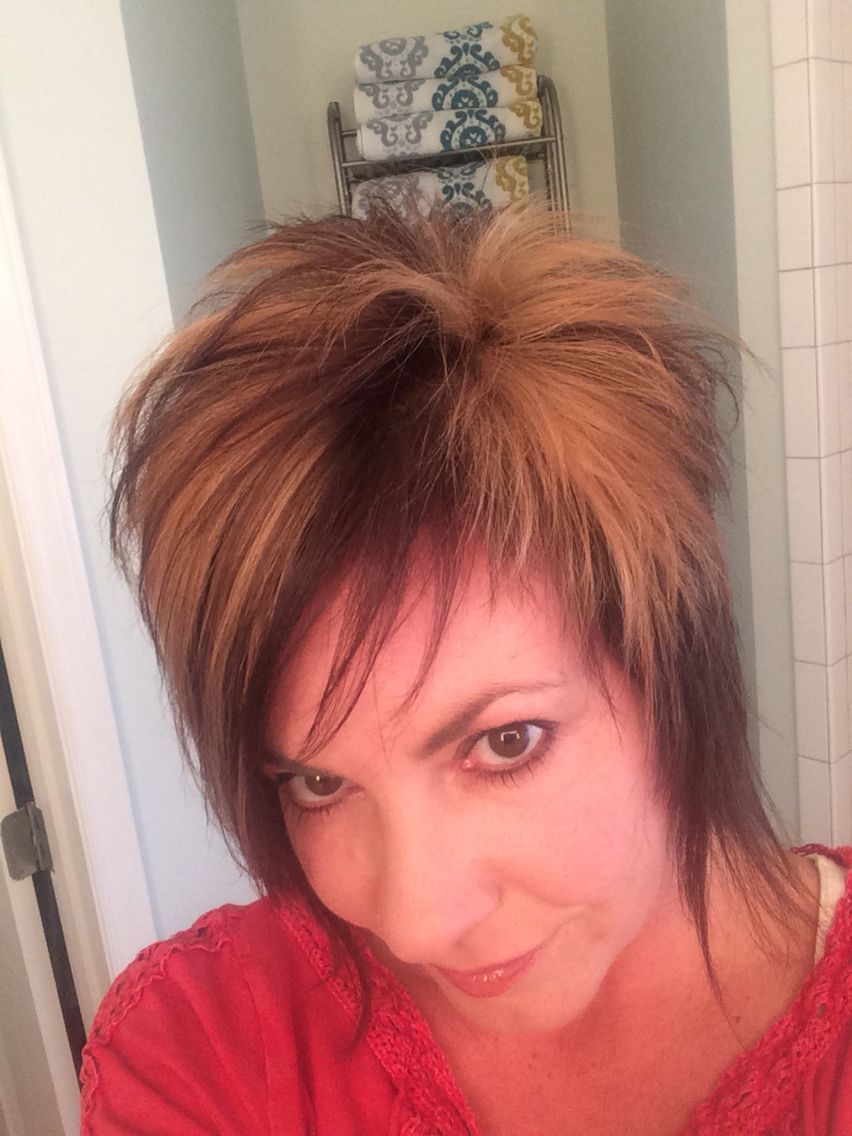 My new do spiky edgy funky girls mullet short hair my style