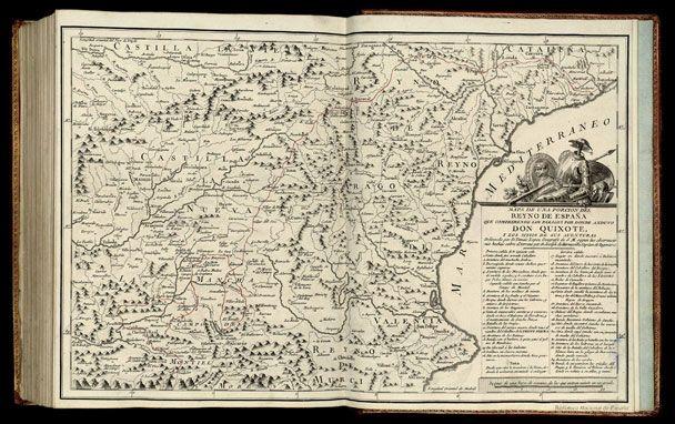 Mapa de una Porcion del Reyno de España que Comprehende los Parages por Donde Anduvo Don Quixote y los Sitios de sus Aventuras / Delineado por D. Tomás López