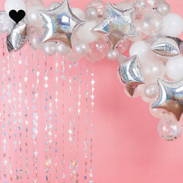 Ballonnenboog Iridescent Stargazer Verjaardags Deco Jetjesenjobjes Nl Confetti Ballonnen Ballonnen Verjaardagsfeest Decoratie