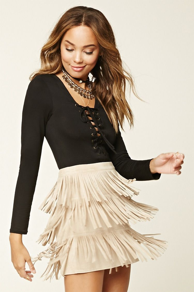 8a294585c Faux Suede Fringe Mini Skirt - Get Suede - 2000201881 - Forever 21 EU  English