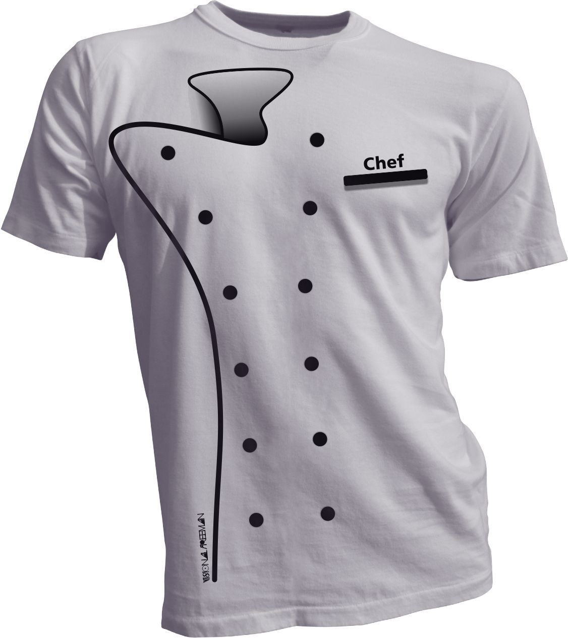 Chef t shirt by visional freeman print on 100 cotton for Material para chef