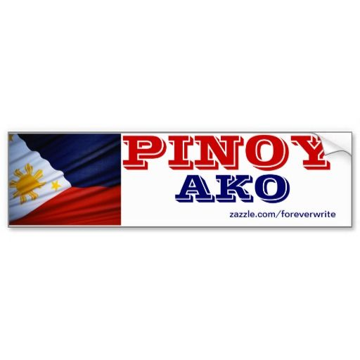 Philippines Pinoy Ako Bumper Sticker Stickers Philippines And