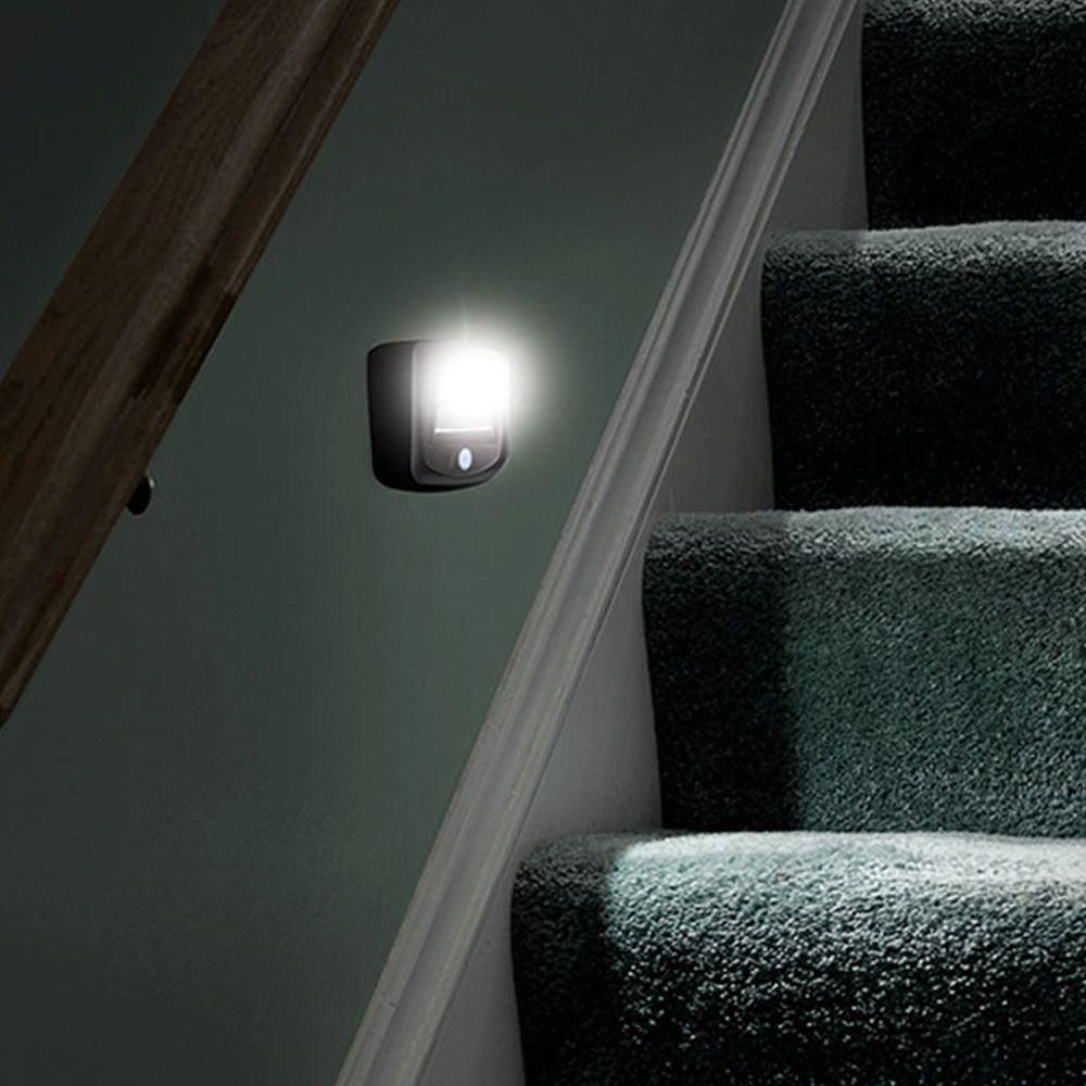 Mr Beams Outdoor Wireless Motion Sensing Led Step Stair Light Brown 2 Pack Mb522 Stair Lighting Home Home Decor