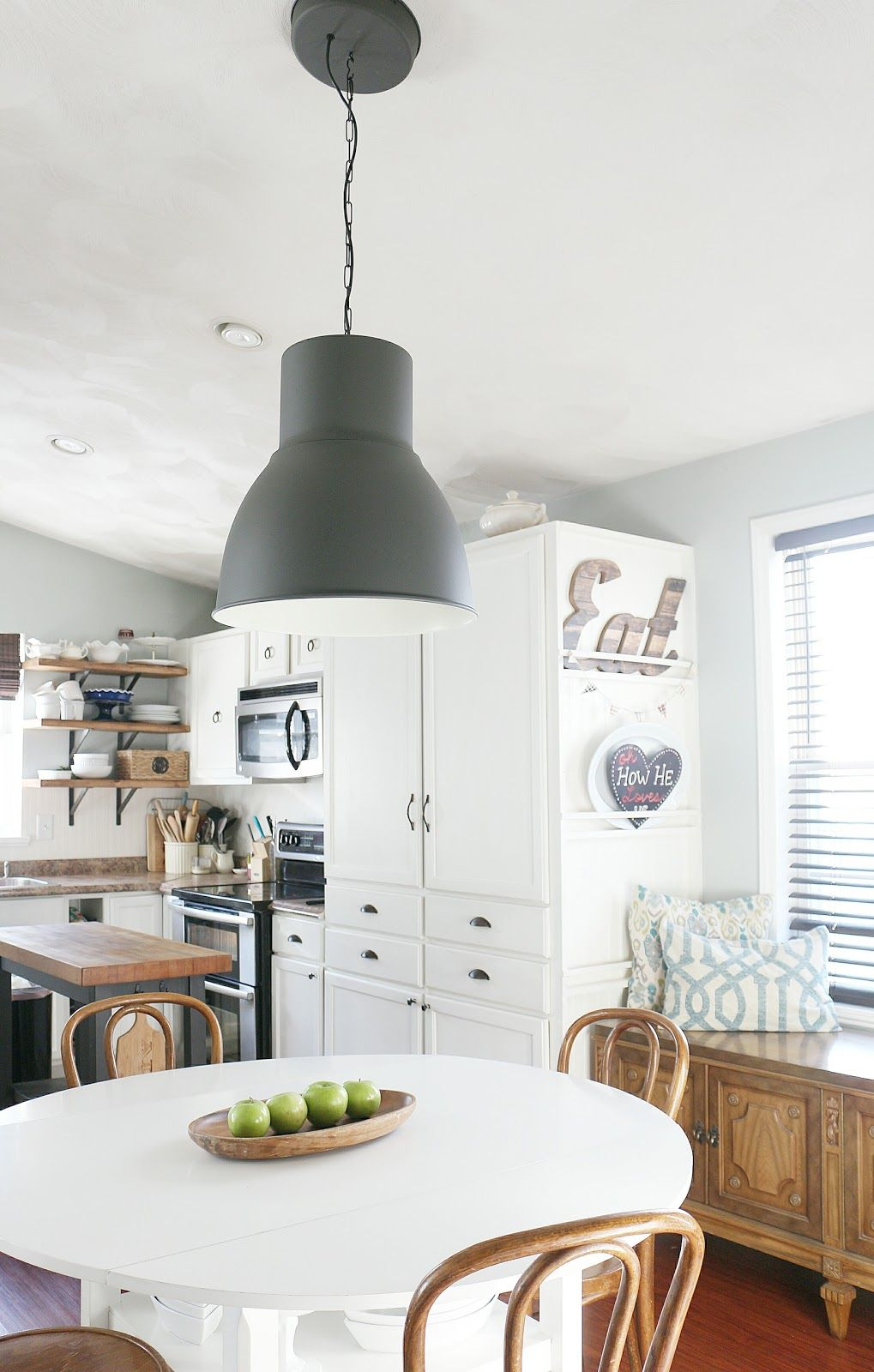 New Dining Room Lighting, Ikea Hektar Pendant | Pinterest | Kitchens ...
