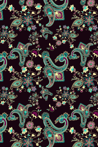 """""""Evening Paisley"""" by ifollowtherabbit. To have a colourlovers pattern printed on fabric, go to http://www.colourlovers.com/store/fabric"""