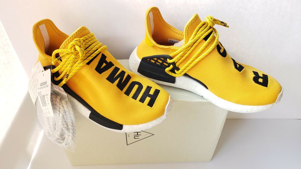 944aa5afac19f Adidas NMD HU Pharrell Williams Human Race Yellow Tennis GOLF RUN Sneaker  BB0619  adidas  RunningShoes