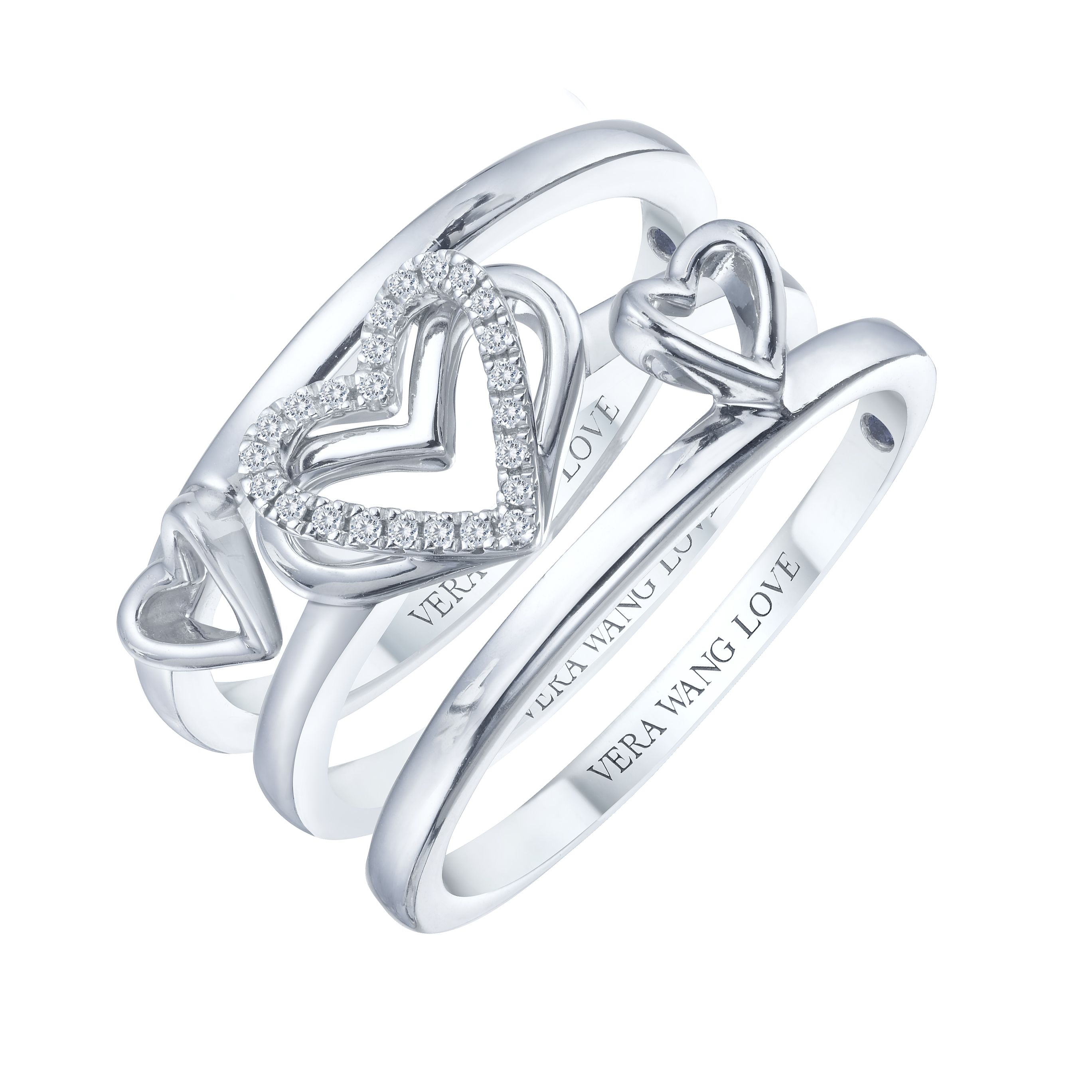 A Beautiful And Fashionable Set Of 3 Stacking Rings From The Vera