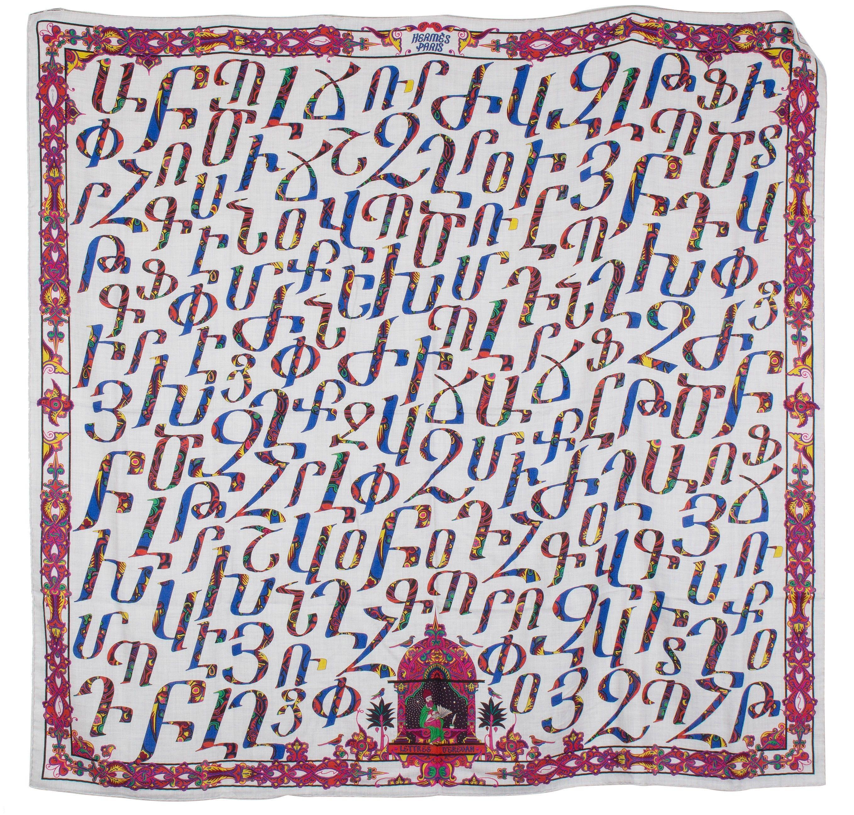 Hermès - Lettres d Erevan, signé Karen Petrossian   Scarfs   Hermes ... eea8d84fdab