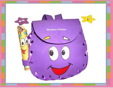 Dulcero hecho de foamy, es mochila el personaje de Dora la exploradora