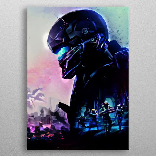Halo 5 Blue by Start   metal posters - Displate   Displate thumbnail