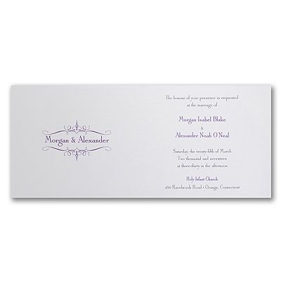 Regal Romance - Invitation    | 40% OFF  |  http://mediaplus.carlsoncraft.com/Wedding/Wedding-Invitations/3150-FV13137H-Regal-Romance--Invitation.pro