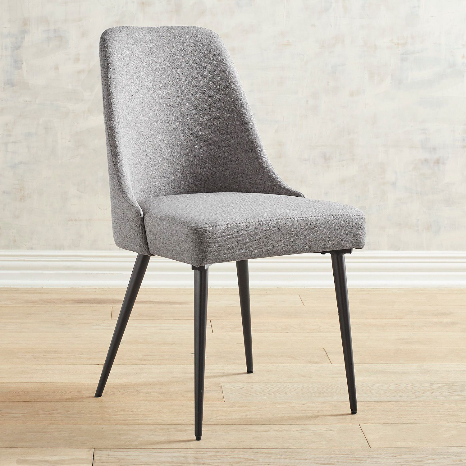 Rissa Mod Gray Dining Chair Brown Dining Chairs Gray Dining