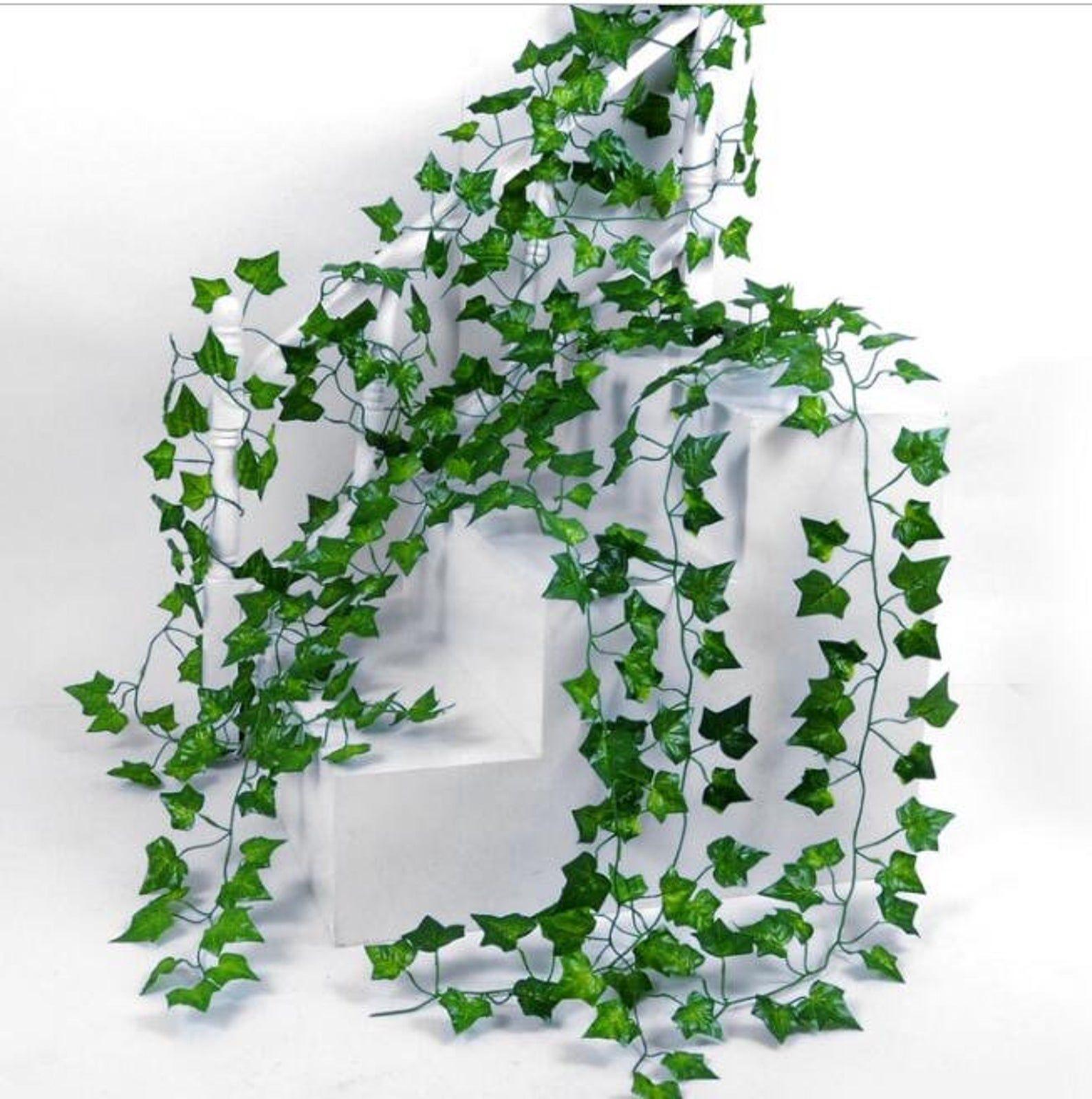 2m Artificial Eucalyptus Garland Green Vine Foliage Silk Ivy Leaf Decor Wedding