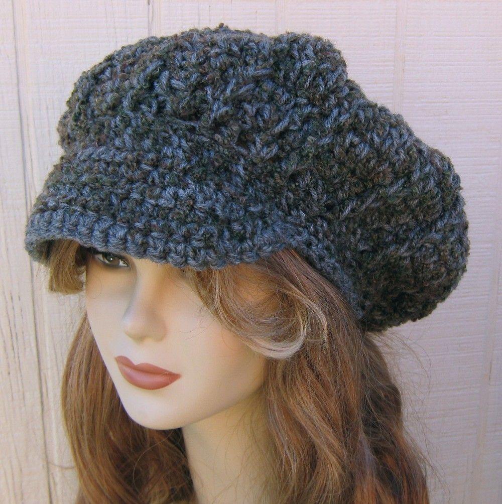 88d572ee95a Grey Boucle Newsboy hat
