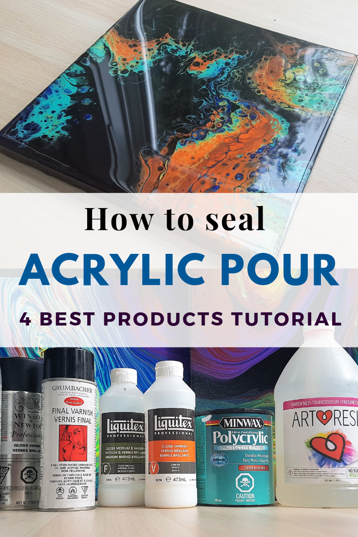 Step By Process Of Sealing Acrylic Pour Paintings And Comparison Top 4 Most Por Products Join Smart Art Materials Facebook Group For More Info