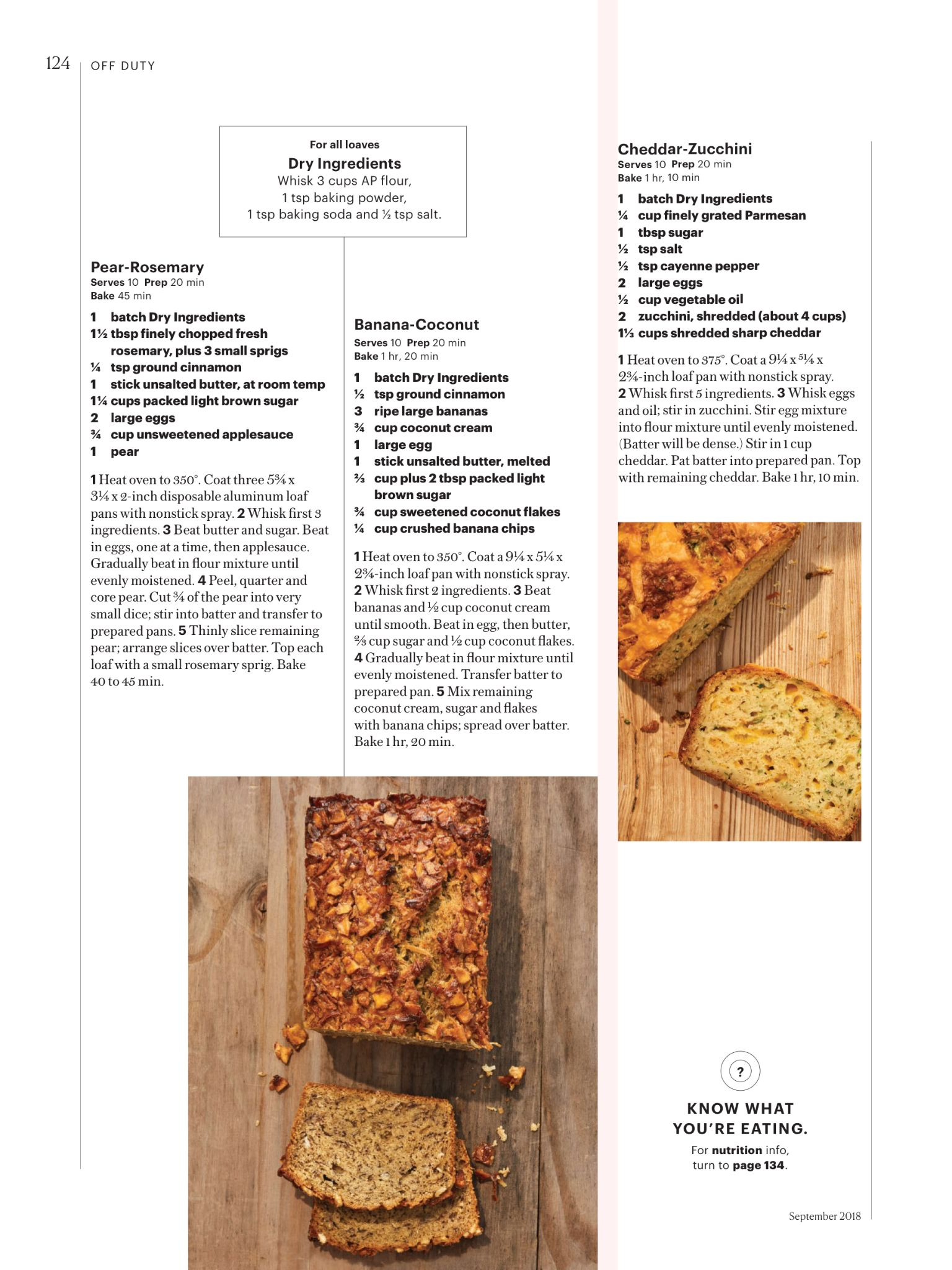 Quick Breads From Family Circle September 2018 Read It On The Texture App Unlimited Access To 200 Top Magazines Stuffed Peppers Coconut Bread Pear Butter