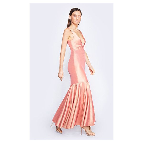 Metallic Peach Orange Moroccan Dream Dress (£200) ❤ liked on ...