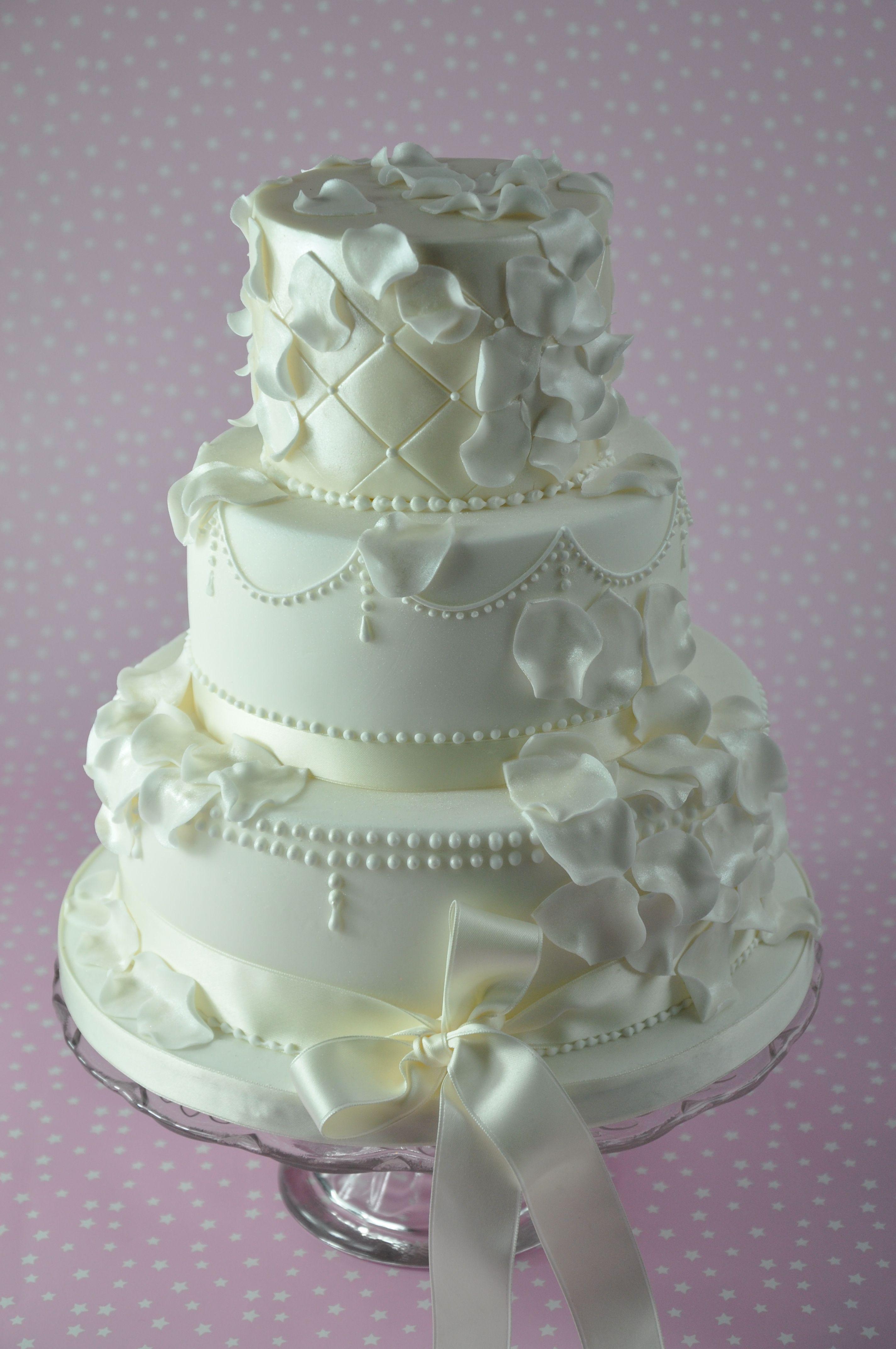 Cream Wedding Cake by Sweet Bliss Bakes