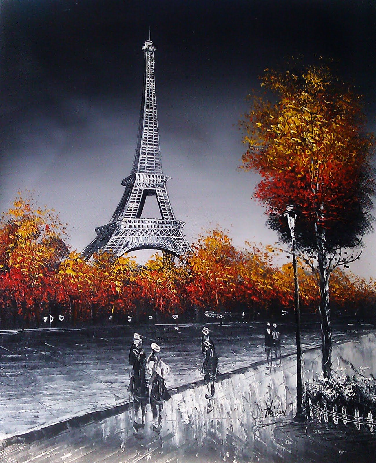 Paris Painting - Eiffel Tower Art Love